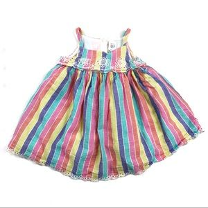 Baby Gap Stripe Colorful Dress Size 6-12 M